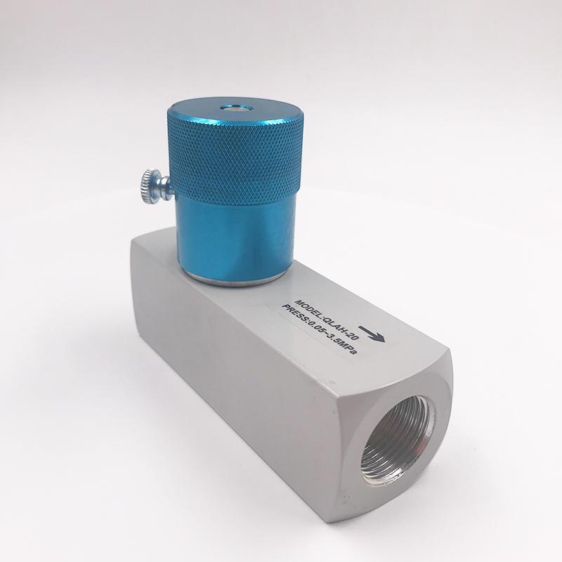 New Engineering Materials Aluminum Alloy QLAH-20  G3/4  High pressure one-way throttle valve