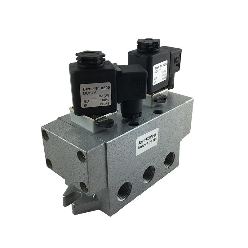 2/5 way K25D2-15 Sliding column type directional valve 1/2inch Safety solenoid valve