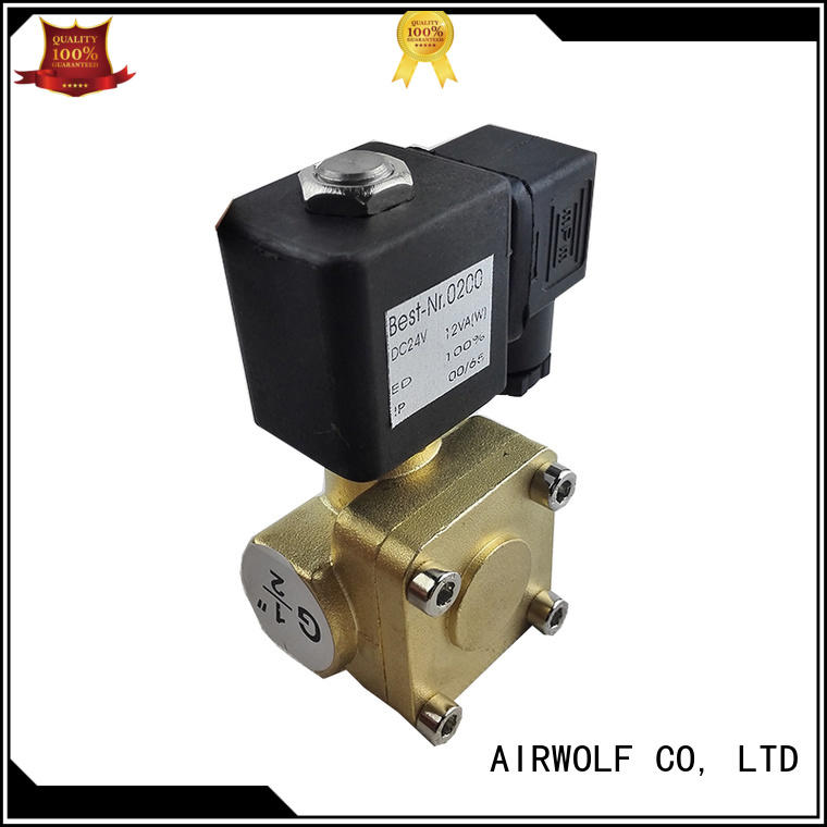 aluminium alloy single solenoid valve hot-sale body direction system