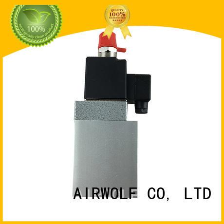 AIRWOLF aluminium alloy solenoid valves single pilot adjustable system