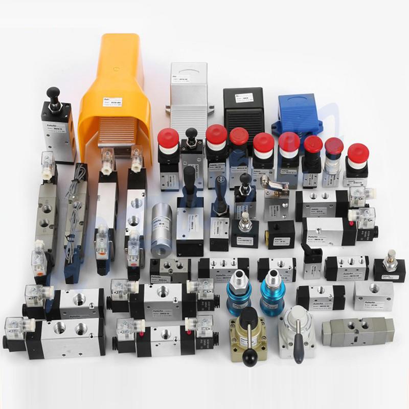 AIRWOLF slide pneumatic push button valve flat bulk production-1