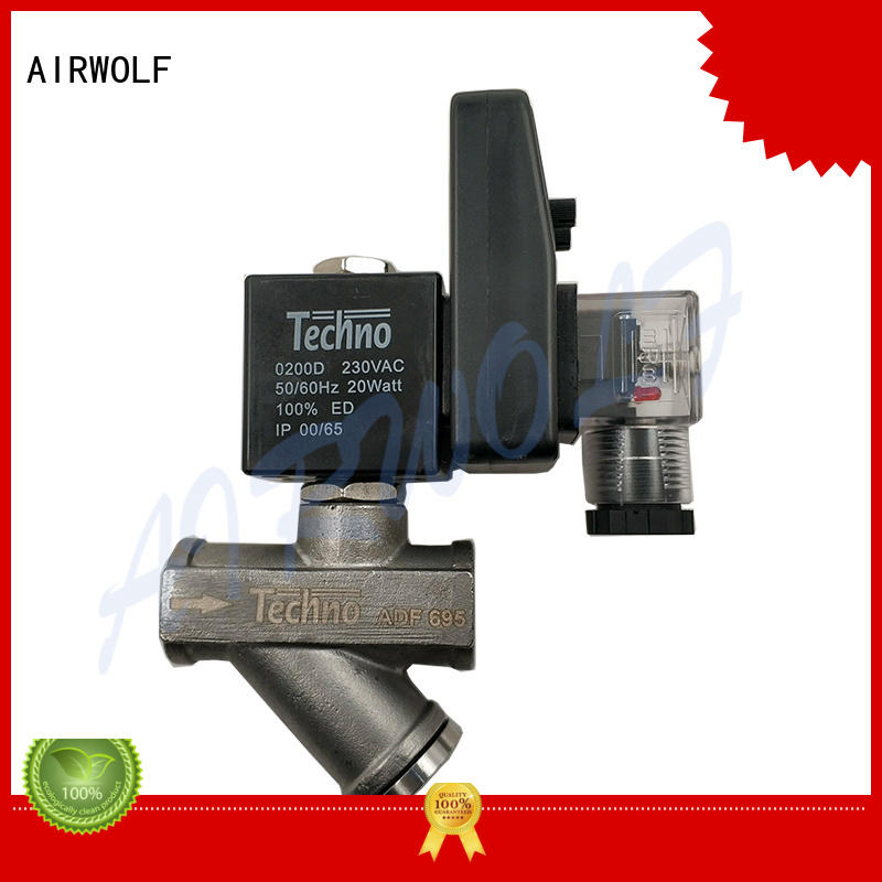 AIRWOLF brass solenoid valves water high quality water pipe