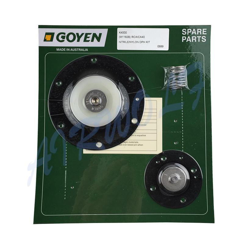 Double diaphragm pulse jet valve repair kit K4000 Nitrile / K4007 Viton for Goyen type CA40MM RCA40MM-1