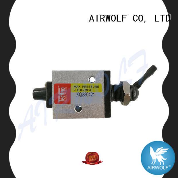 AIRWOLF black push button pneumatic air valve position bulk production