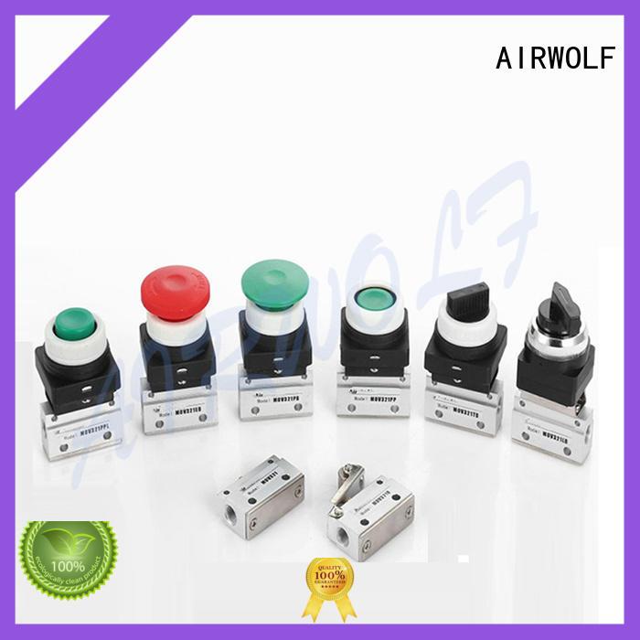 AIRWOLF cheapest price pneumatic push button valve aluminum bulk production
