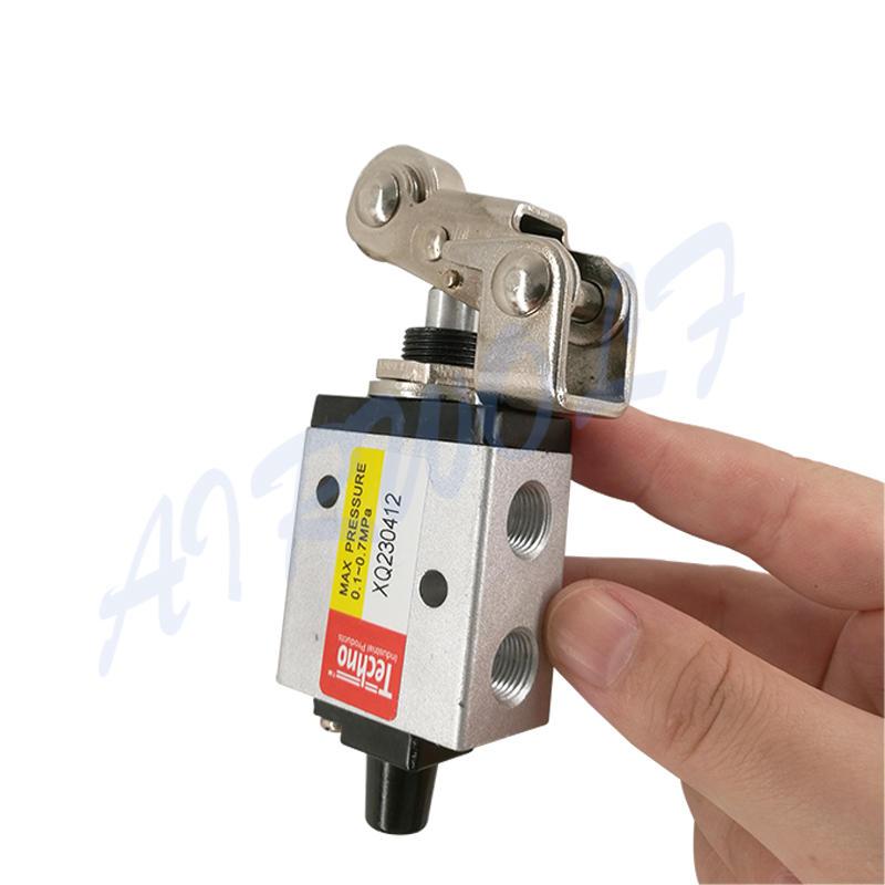 AIRWOLF black pneumatic push button valve silver bulk production-3