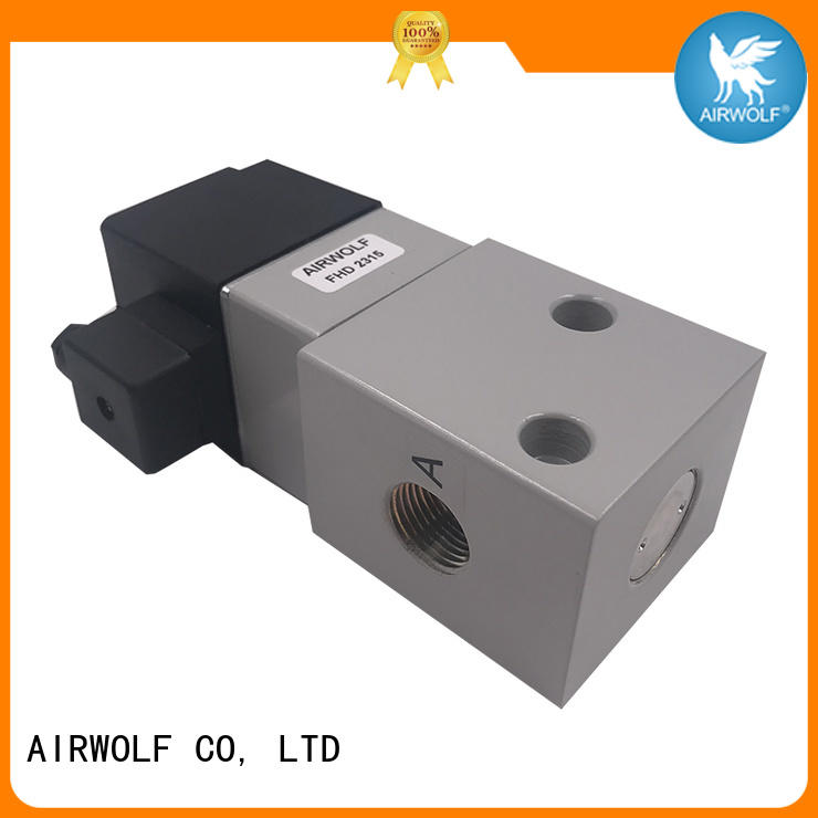 AIRWOLF ODM pilot operated solenoid valve body adjustable system