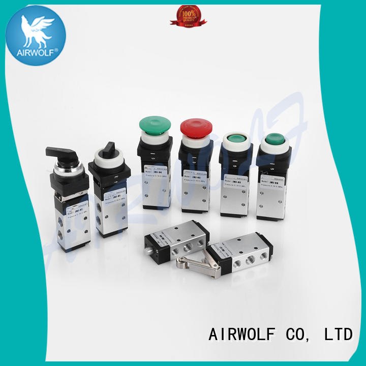 high quality push button pneumatic air valve return wholesale AIRWOLF