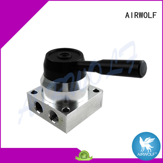 AIRWOLF black pneumatic push button valve custom bulk production