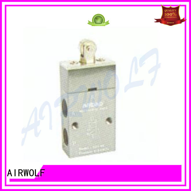 AIRWOLF slide pneumatic push button valve outlet bulk production