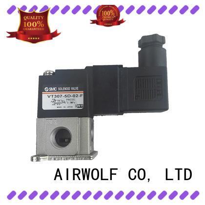 AIRWOLF aluminium alloy single solenoid valve operated adjustable system
