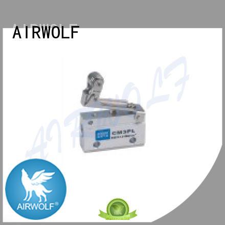 AIRWOLF black pneumatic manual control valve aluminium at discount