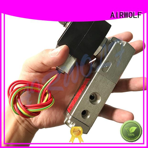 aluminium alloy magnetic solenoid valve operated for gas pipelines AIRWOLF