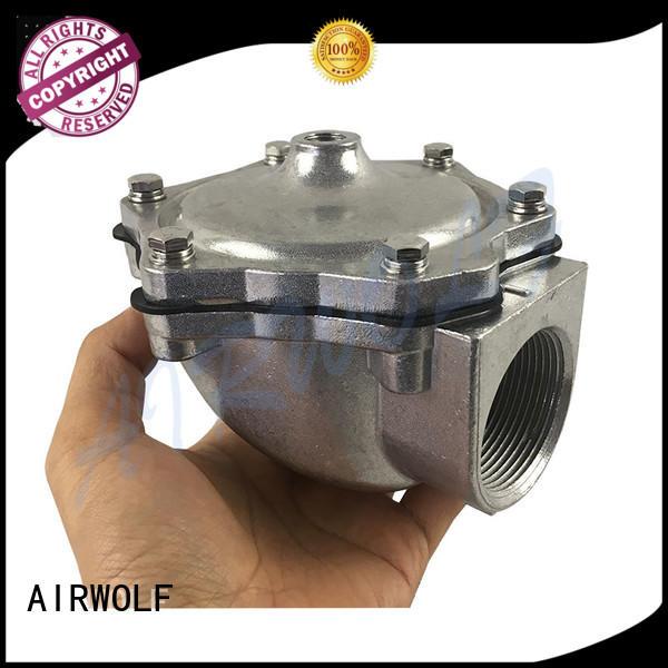 AIRWOLF submerged goyen pulse jet valve diaphragm installation