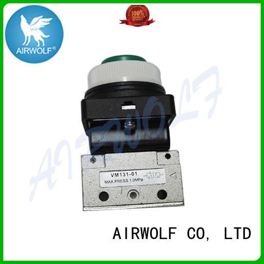 AIRWOLF mechanical pneumatic manual valves push bulk production
