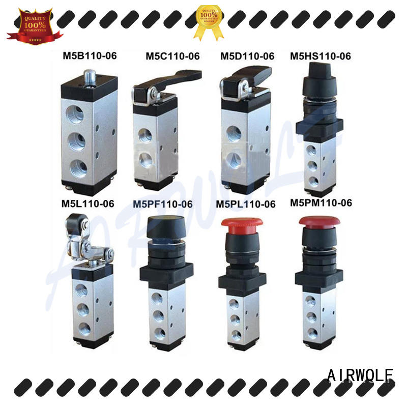 AIRWOLF black pneumatic manual control valve way wholesale