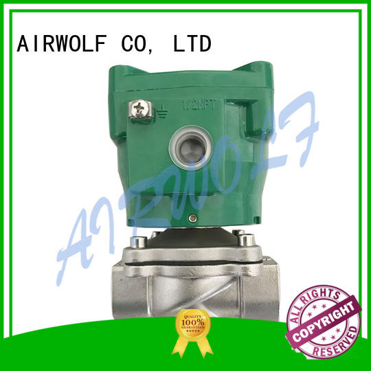 magnetic solenoid valve single pilot for gas pipelines AIRWOLF