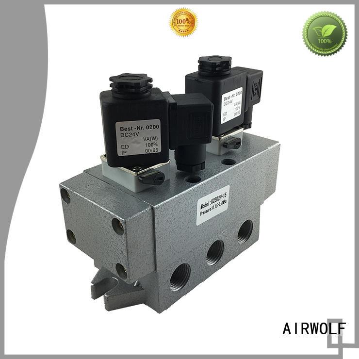 AIRWOLF aluminium alloy single solenoid valve spool direction system