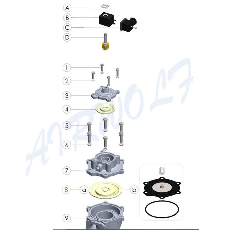 AIRWOLF kit diaphragm kit hot-sale for mechanics maintenance-1