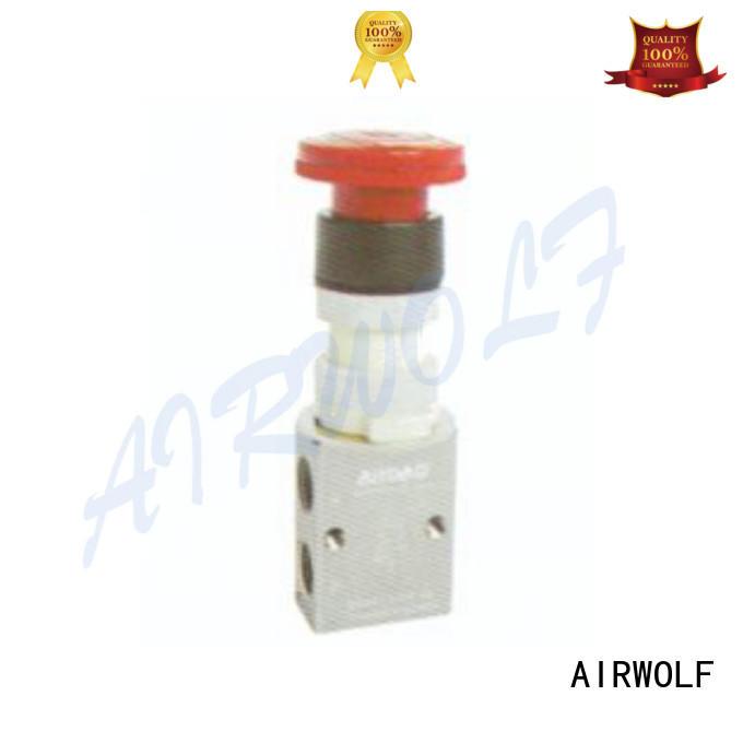 cheapest price pneumatic push button valve high quality bulk production AIRWOLF