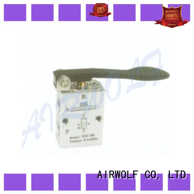 AIRWOLF slide pneumatic manual control valve hand bulk production