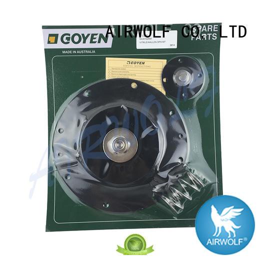 AIRWOLF stainless steel diaphragm valve repair viton paper industry