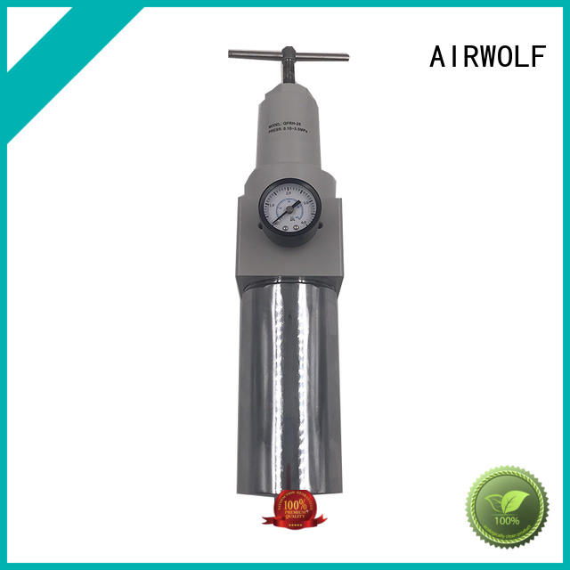 AIRWOLF custom pneumatic push button valve exhaust bulk production